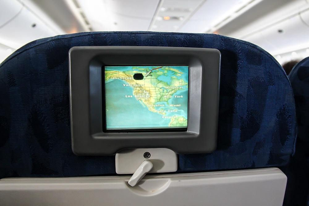 Видеосистема в самолете Боинг-777-200 Трансаэро.