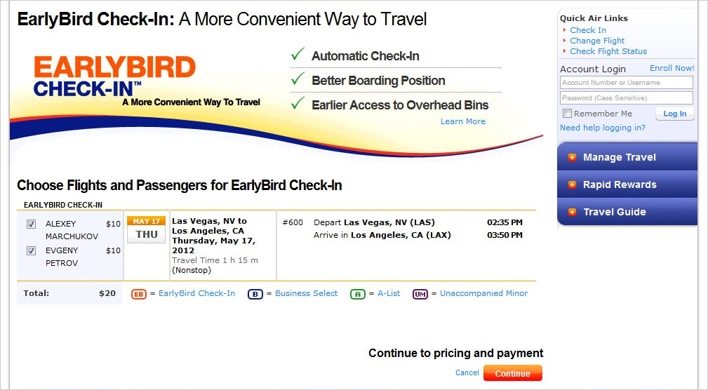 Solved: What is the purpose of paying for early bird check-in () and you still board late. At this point we should be able to choose our seats.