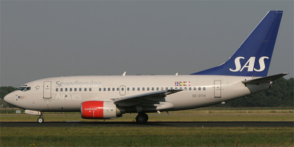 Boeing 737-600 commercial aircraft