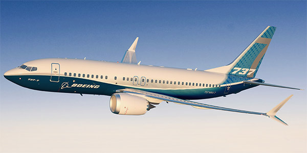 Boeing 737 MAX 7 commercial aircraft
