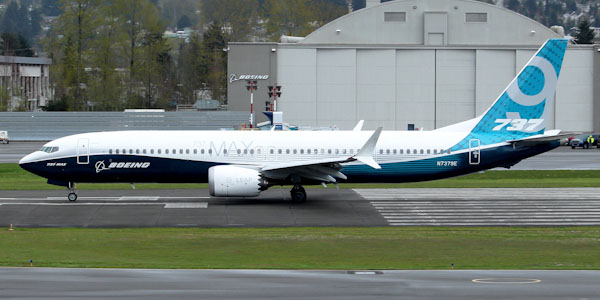 Boeing 737 MAX 9 commercial aircraft