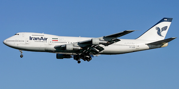 Boeing 747-100 commercial aircraft