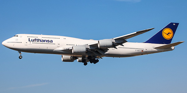Boeing 747-8 commercial aircraft