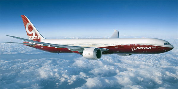 Boeing 777-9 commercial aircraft