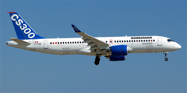 Airbus A220-300 airplane (Bombardier CS300)