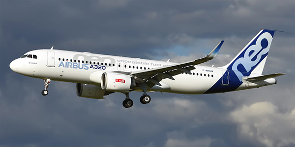 Airbus A320neo commercial airplane