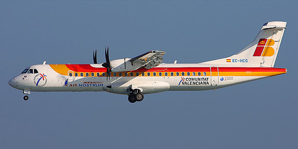 ATR 72 commercial aircraft