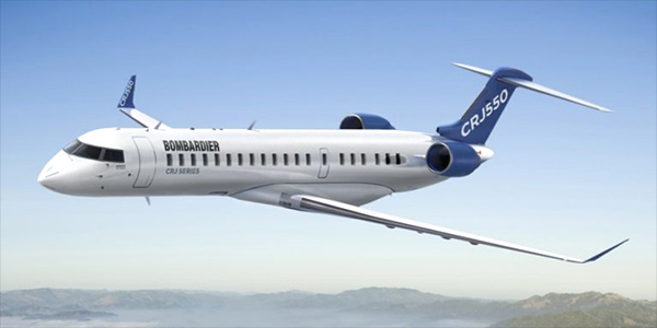 Bombardier CRJ550 commercial aircraft