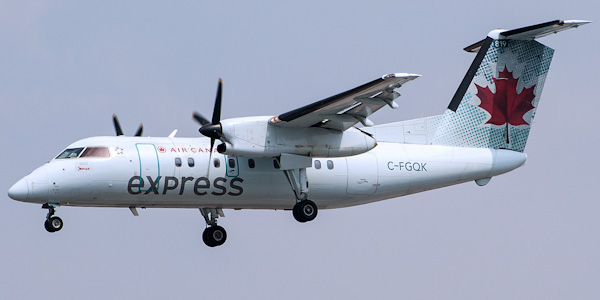 Bombardier Dash 8 Q100 commercial aircraft