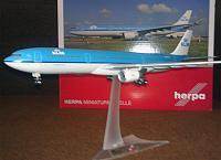 Herpa: Airbus A330-300 авиакомпании KLM в масштабе 1:200